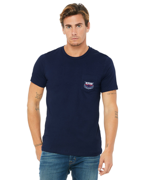 FAU Unisex Short Sleeve Pocket Tee w/ FAU Florida Atlantic & Owlsley Logo