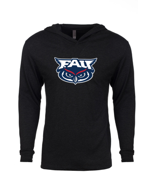 FAU Unisex Long Sleeve Hooded Tee w/ FAU & Owlsley Logo