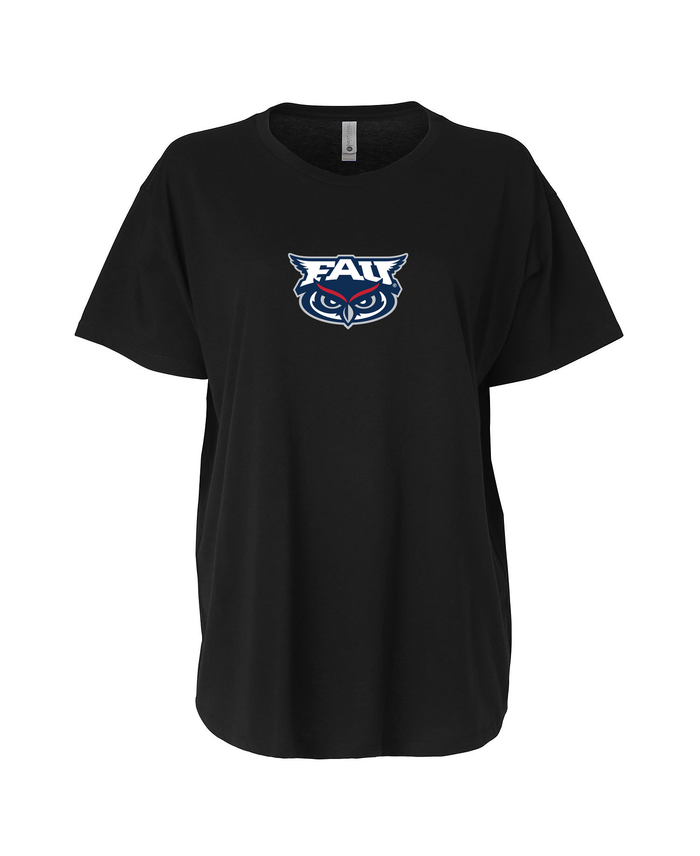 FAU Women's Loose Fit Tee w/ FAU & Owlsley Logo