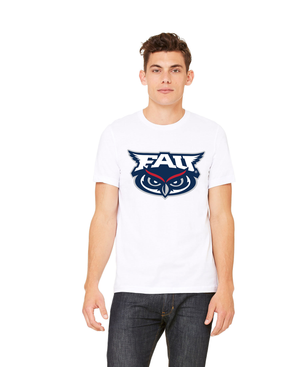 FAU Unisex Heather CVC T-Shirt w/ FAU & Owlsley Logo
