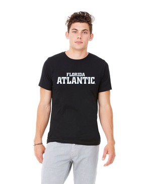 FAU Unisex Heather CVC T-Shirt w/ Black & White Florida Atlantic Logo