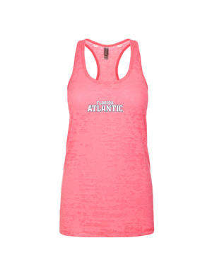 FAU Women's Racerback Burnout Tank w/ Black & White Florida Atlantic Logo