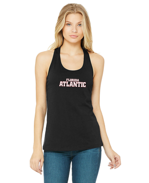 FAU Relaxed Fit Tank Top For Women w/ Red & White Florida Atlantic Logo