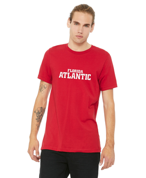 FAU Unisex Jersey Tee w/ Red & White Florida Atlantic Logo