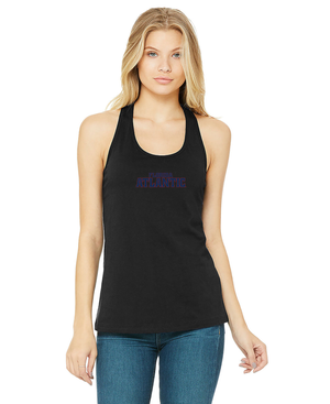 FAU Relaxed Fit Tank Top For Women w/ Red & Navy Florida Atlantic Logo
