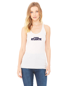 FAU Women's Racerback Tank w/ Red & Navy Florida Atlantic Logo