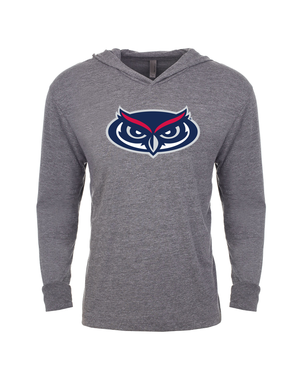 FAU Unisex Long Sleeve Hooded Tee w/ Owlsley head Logo