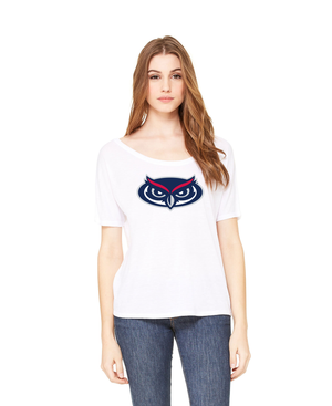 FAU Women's Loose Fit Slouchy Tee w/ Owlsley head Logo