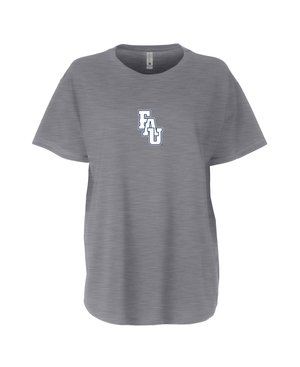 FAU Women's Loose Fit Tee w/ Black & White FAU Logo