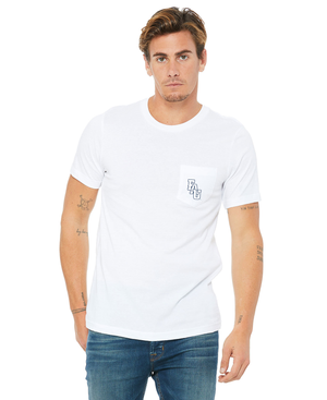 FAU Unisex Short Sleeve Pocket Tee w/ Black & White FAU Logo