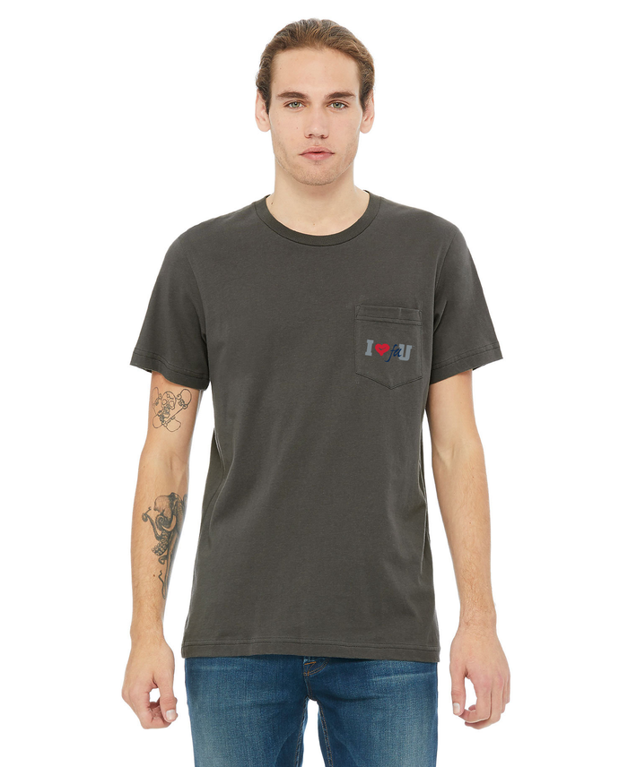 FAU Unisex Short Sleeve Pocket Tee w/ I Heart FAU Logo