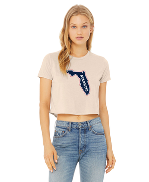 FAU Women's Cropped Tee w/ State of Florida Logo