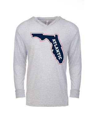 FAU Unisex Long Sleeve Hooded Tee w/ State of Florida Logo