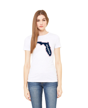FAU Slim Fit Women's Tee w/ State of Florida Logo