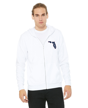 FAU Unisex Soft Fleece Full-Zip Hoodie w/ State of Florida Logo