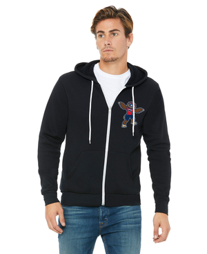 FAU Unisex Soft Fleece Full-Zip Hoodie w/ Owlsley the Owl Mascot Logo