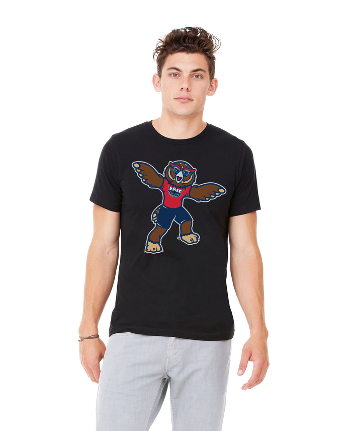 FAU Unisex Heather CVC T-Shirt w/ Owlsley the Owl Mascot Logo