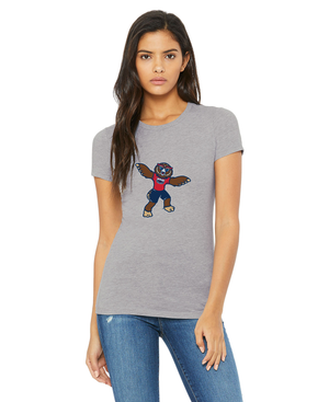 FAU Slim Fit Women's Tee (Owlsley the Owl Logo)