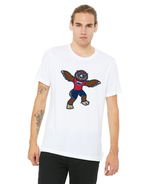 FAU Unisex Jersey Tee w/ the Owlsley the Owl Mascot Logo