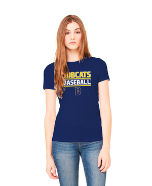 Ladies Bobcat Baseball Cotton Shirt