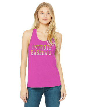 Ladies Patriots Baseball Racerback Tank