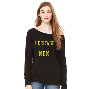Ladies Heritage Baseball Mom Fashion Fit Sweatshirt