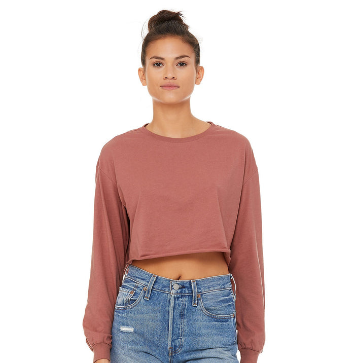 B6501 BELLA+CANVAS Women's Cropped Long Sleeve Tee