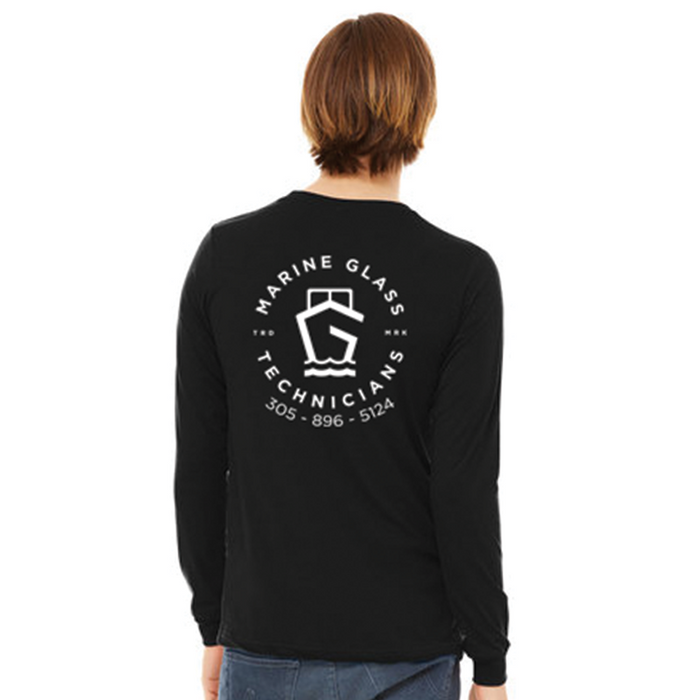 Marine Glass Technicians Dry Fit Long Sleeve Tee