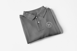 J. Major Designs Dark Smoke Grey Polo