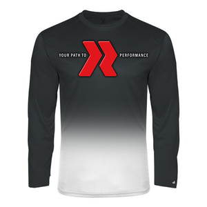 Redline Your Path Long Sleeve Ombre Tee