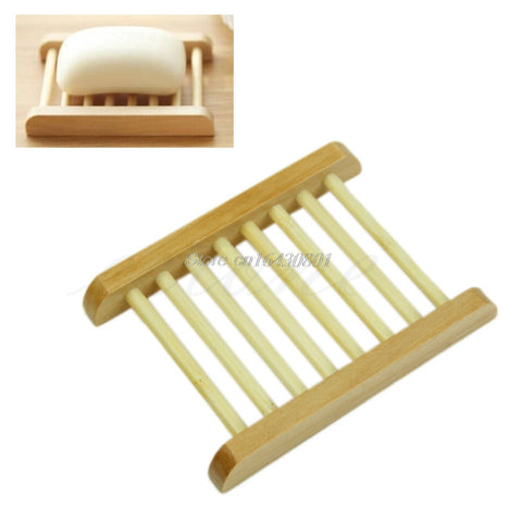 Natural Wood Soap Tray Holder Dish Storage Bath Shower Plate Home Bathroom Decor S08 Drop ship