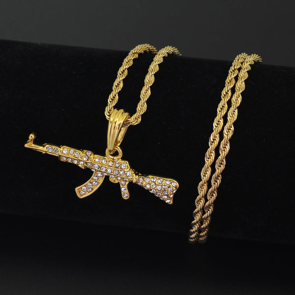 Ak47 gun pendant necklace fashion jewelry black and money fashions ak47 gun pendant necklace fashion jewelry mozeypictures Images