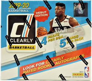 2019-20 Clearly Donruss Basketball Hobby Box