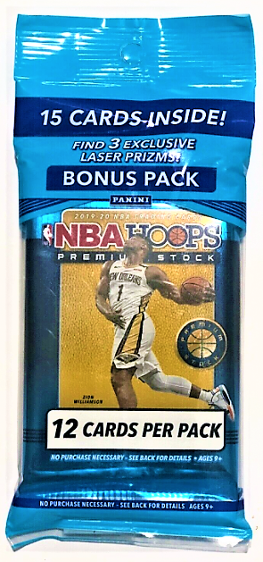 2019-20 NBA Hoops Premium Stock Cello Pack