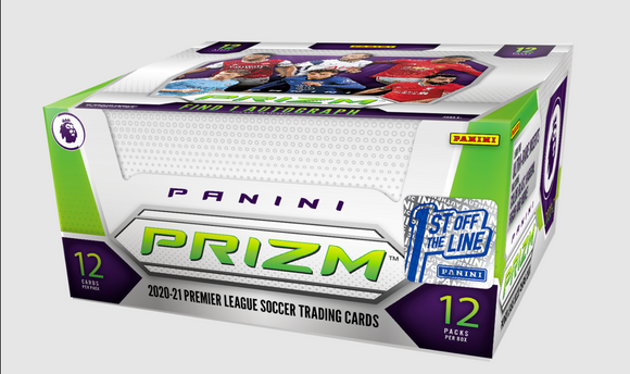 2020-21 Panini Prizm EPL Soccer First Off the Line Hobby Box FOTL