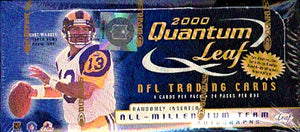 2000 Quantum Leaf Football Hobby Box (Tom Brady Rookie Year!)