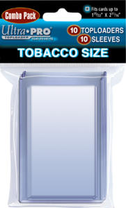 Tobacco Size Toploader & Sleeves Combo Pack