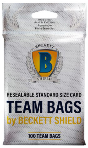 Beckett Shield Resealable Team Bags (100 per pack)