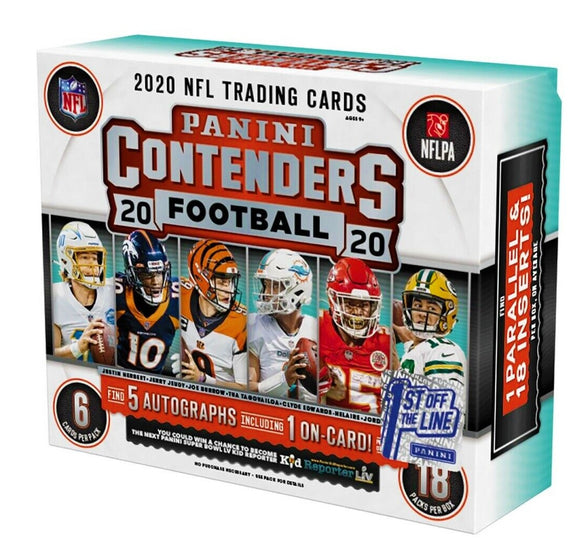 2020 NFL Break: FOTL & Hobby Box Contenders Break !!