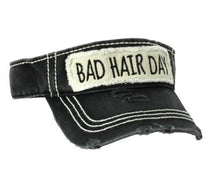 Adjustable Western Bad Hair Day White, Blue or Black Cap Visor