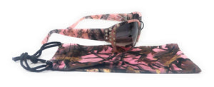 Pink Vertx Camo Camouflage Western Ladies Sunglasses + Matching Drawstring Case