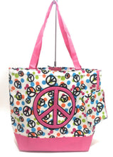 Shopper Craft Diaper Tote Beach Bag Purse Coin Wallet Set Peace Pink or Blue