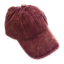 High Ponytail Bun Distressed Cap Hat Black Pink r Maroon