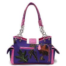 Cowgirl Trendy Camo Concealed Carry Cross Purse Shoulder Bag Wallet Set Purple Pink