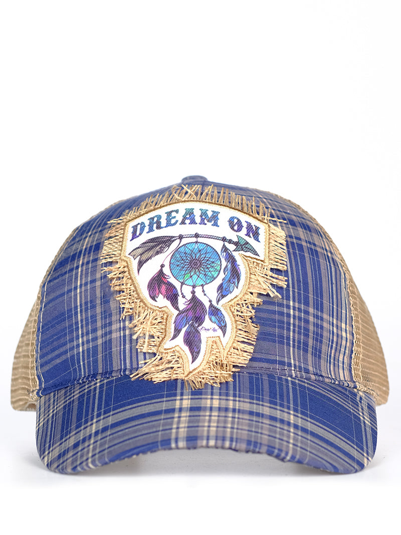 Southern Junkie Adjustable Dream On Feather Hippy Arrow Vented Trucker Hat Cap