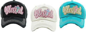 KB Adjustable Blessed Cross Womens Christian Baseball Cap Ladies Hat