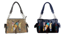 Arrow Aztec Western Concealed Carry Handgun Purse Shoulderbag Brown or Black