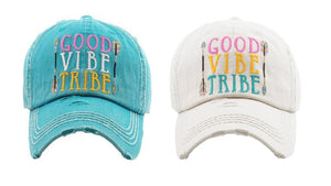 "Adjustable ""Good Vibe Tribe"" Arrow Aztec Womens Baseball Hat Cap"
