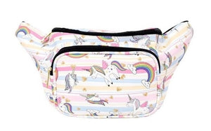 Alfa Unicorn Rainbow Bird Star Waist Fanny Pack Purse Bag Pink Blue