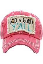 KB Adjustable Womens God is Good Yall Baseball Cap Hat